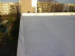 稲毛屋上シート防水完成3