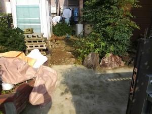 庭の改修(土→コンクリート)-1