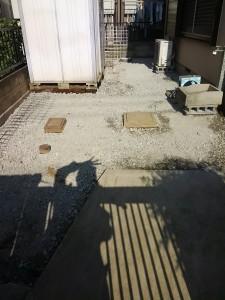 庭の改修(土→コンクリート)-3