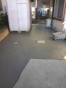 庭の改修(土→コンクリート)-4