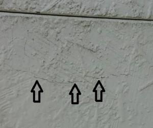 サイディングボードの亀裂1