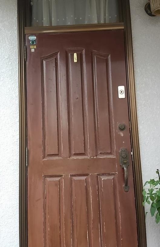 坂内様ドア・塗装前・反転